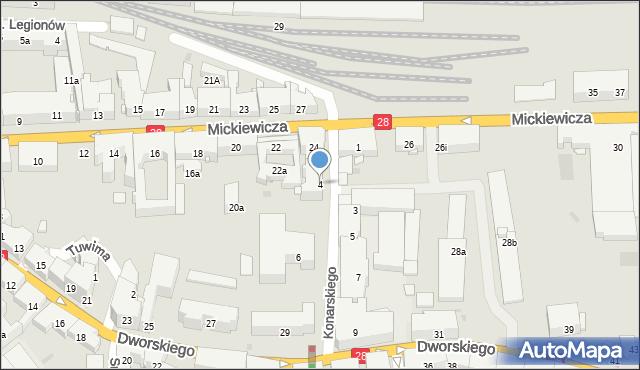 Przemyśl, Konarskiego Stanisława, 4, mapa Przemyśla