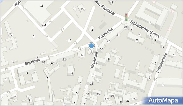 Przemyśl, Kopernika Mikołaja, 11, mapa Przemyśla