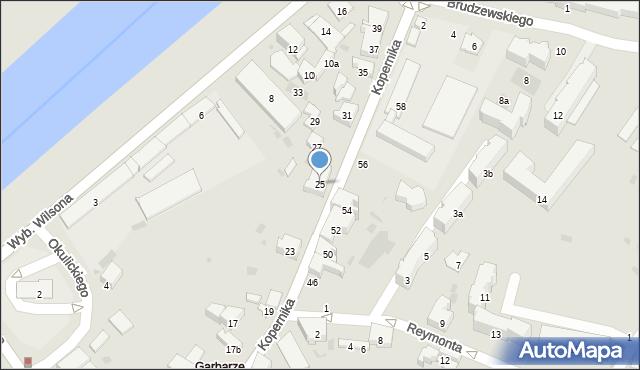 Przemyśl, Kopernika Mikołaja, 25, mapa Przemyśla