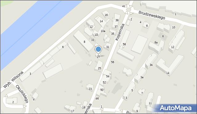 Przemyśl, Kopernika Mikołaja, 27, mapa Przemyśla