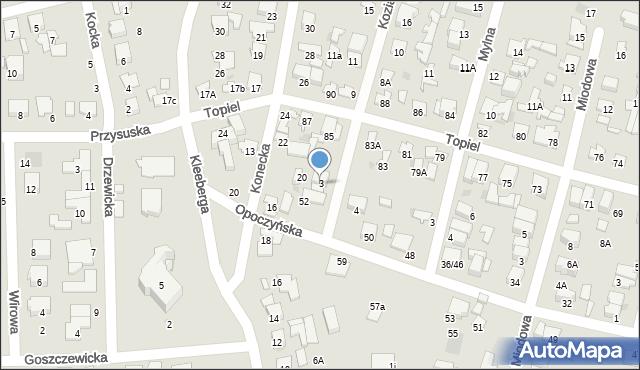 Radom, Kozia, 3, mapa Radomia