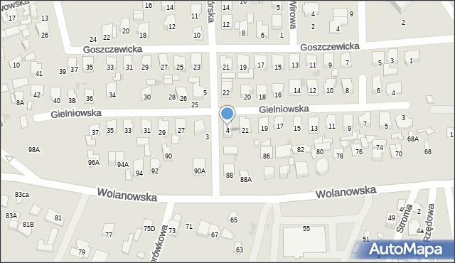 Radom, Koziegórska, 4, mapa Radomia