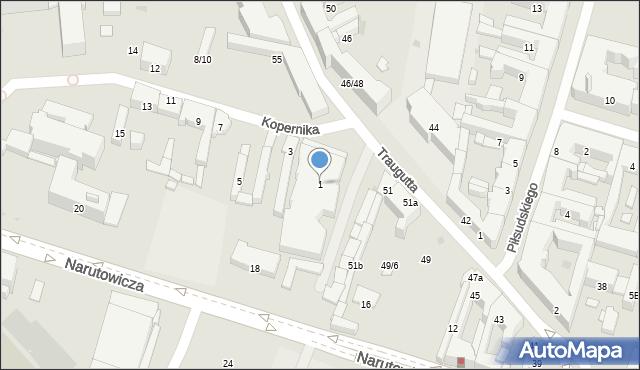 Radom, Kopernika Mikołaja, 1, mapa Radomia