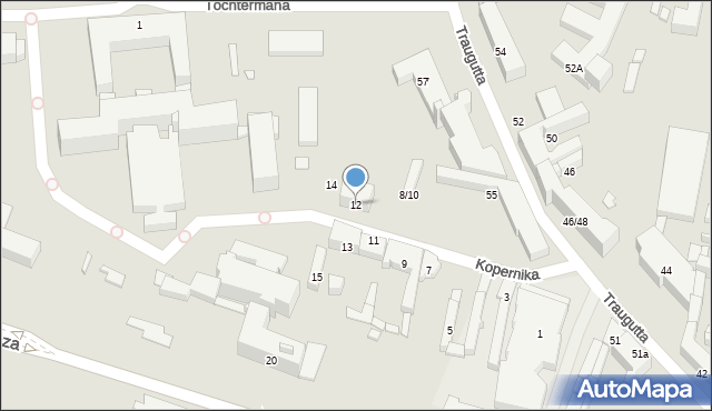 Radom, Kopernika Mikołaja, 12, mapa Radomia