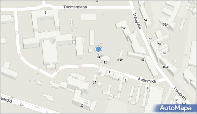 Radom, Kopernika Mikołaja, 14, mapa Radomia