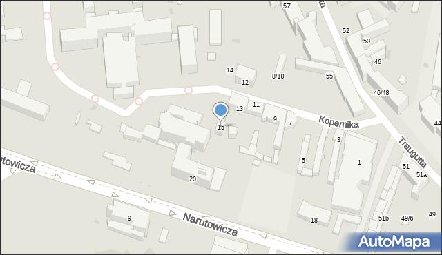 Radom, Kopernika Mikołaja, 15, mapa Radomia