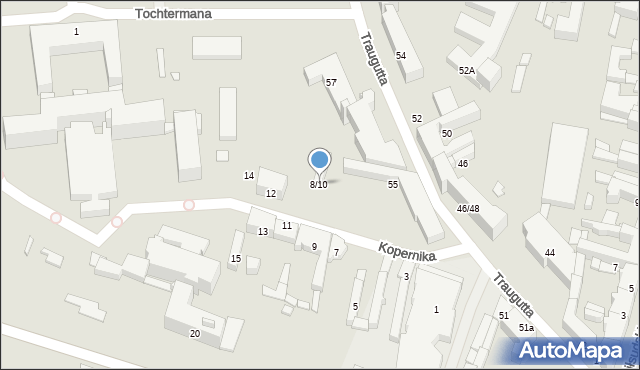 Radom, Kopernika Mikołaja, 8/10, mapa Radomia