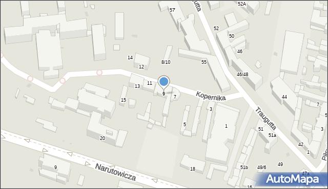 Radom, Kopernika Mikołaja, 9, mapa Radomia
