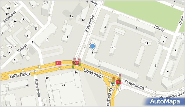 Radom, Kościuszki Tadeusza, gen., 2, mapa Radomia