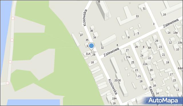 Radom, Kosowska, 31, mapa Radomia