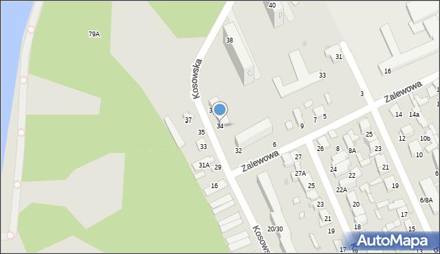 Radom, Kosowska, 34, mapa Radomia