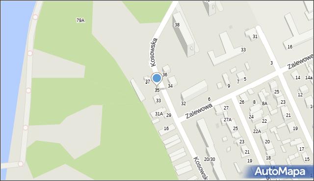 Radom, Kosowska, 35, mapa Radomia