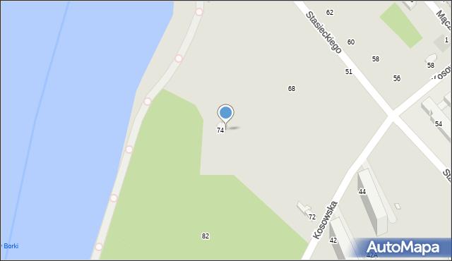 Radom, Kosowska, 43a, mapa Radomia