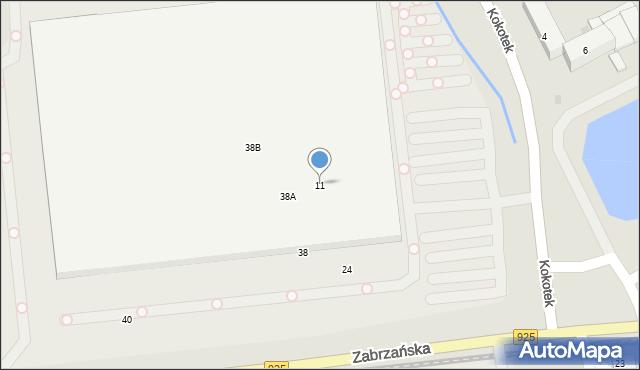 Ruda Śląska, Kokotek, 11, mapa Rudy Śląskiej