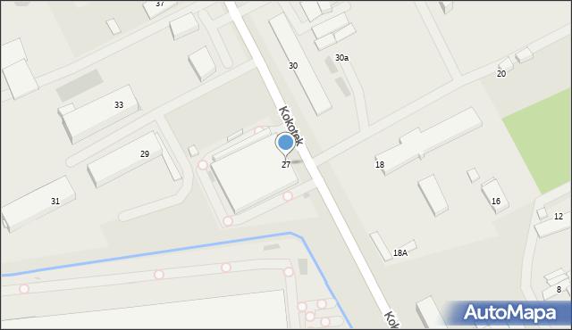 Ruda Śląska, Kokotek, 27, mapa Rudy Śląskiej