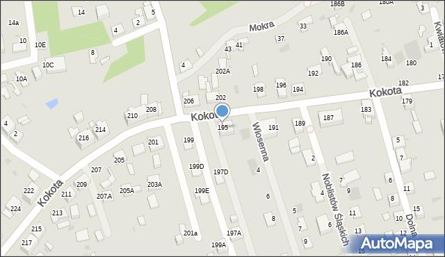 Ruda Śląska, Kokota Edmunda, 195, mapa Rudy Śląskiej