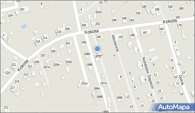 Ruda Śląska, Kokota Edmunda, 197D, mapa Rudy Śląskiej