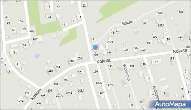 Ruda Śląska, Kokota Edmunda, 206, mapa Rudy Śląskiej