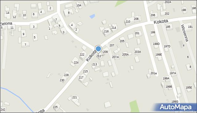 Ruda Śląska, Kokota Edmunda, 211, mapa Rudy Śląskiej