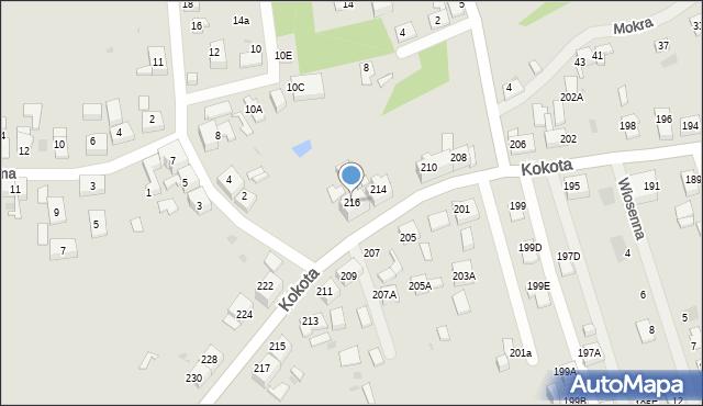 Ruda Śląska, Kokota Edmunda, 216, mapa Rudy Śląskiej