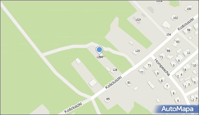 Rudnik nad Sanem, Kościuszki Tadeusza, gen., 128A, mapa Rudnik nad Sanem