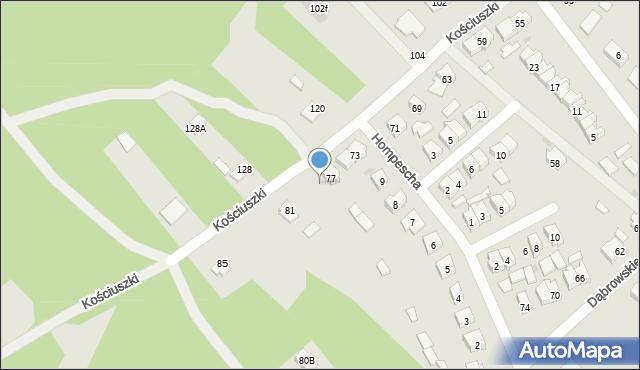 Rudnik nad Sanem, Kościuszki Tadeusza, gen., 79, mapa Rudnik nad Sanem