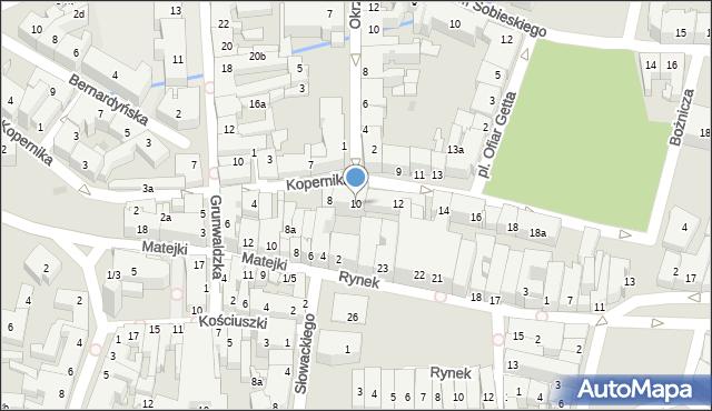 Rzeszów, Kopernika Mikołaja, 10, mapa Rzeszów