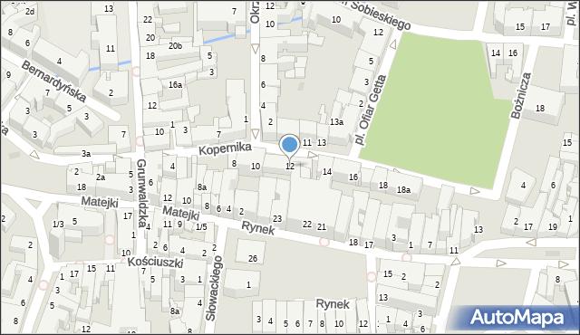 Rzeszów, Kopernika Mikołaja, 12, mapa Rzeszów