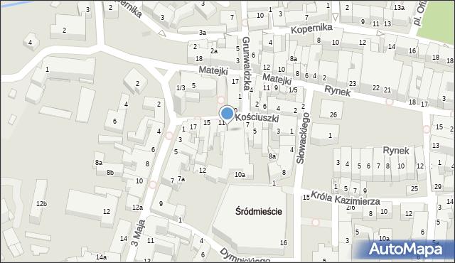Rzeszów, Kościuszki Tadeusza, gen., 9, mapa Rzeszów