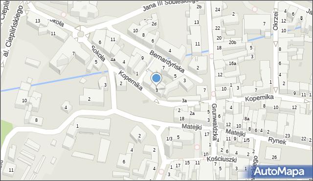 Rzeszów, Kopernika Mikołaja, 3, mapa Rzeszów