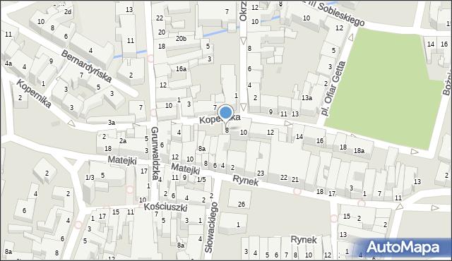 Rzeszów, Kopernika Mikołaja, 8, mapa Rzeszów