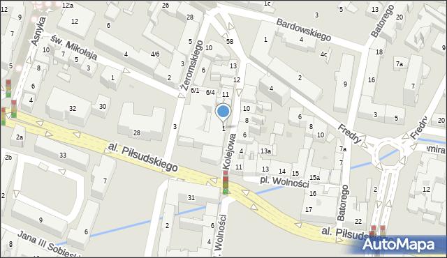Rzeszów, Kolejowa, 1, mapa Rzeszów