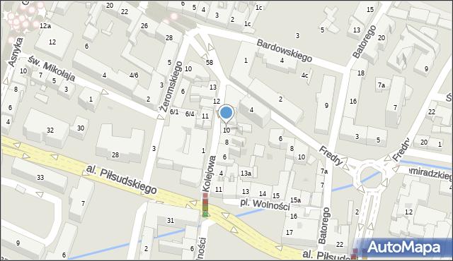 Rzeszów, Kolejowa, 10, mapa Rzeszów
