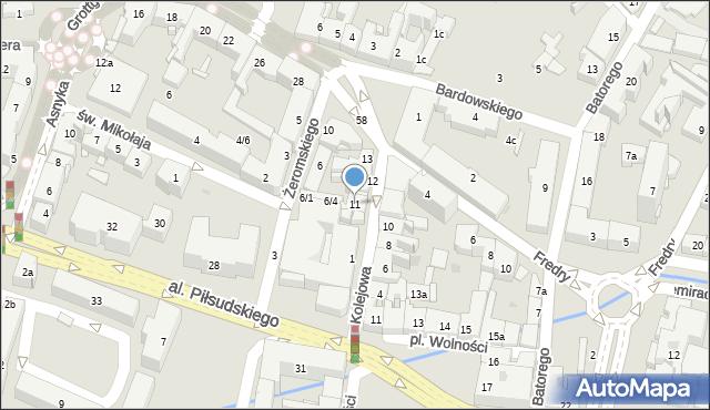 Rzeszów, Kolejowa, 11, mapa Rzeszów