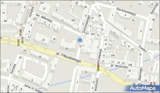 Rzeszów, Kolejowa, 3, mapa Rzeszów