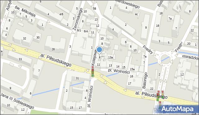 Rzeszów, Kolejowa, 4, mapa Rzeszów