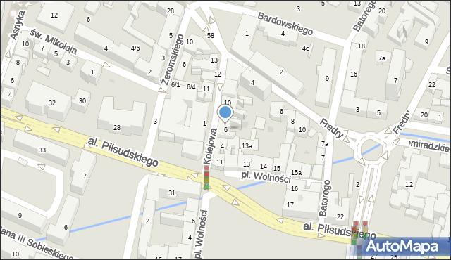 Rzeszów, Kolejowa, 6, mapa Rzeszów