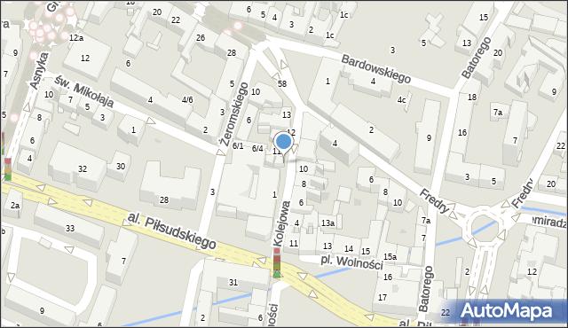 Rzeszów, Kolejowa, 7, mapa Rzeszów