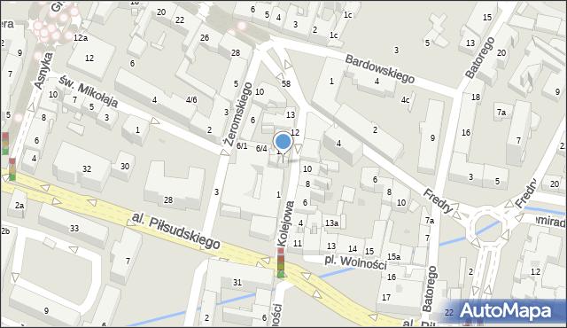 Rzeszów, Kolejowa, 7b, mapa Rzeszów