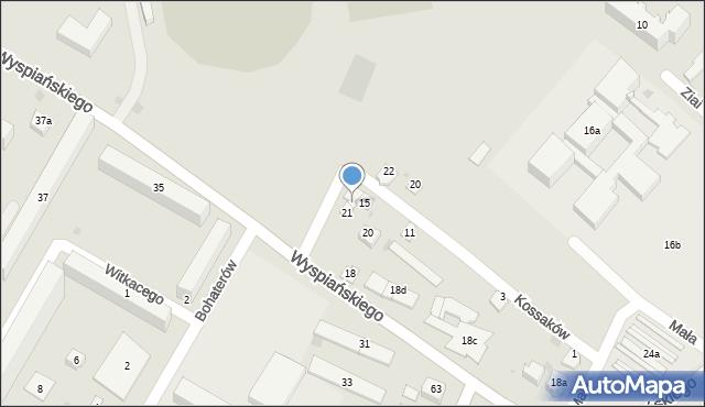 Rzeszów, Kossaków, 17, mapa Rzeszów
