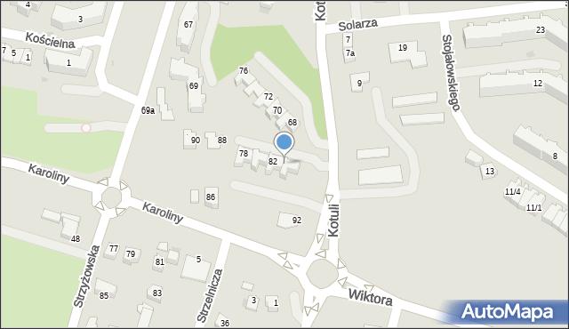 Rzeszów, Kotuli Franciszka, 84, mapa Rzeszów