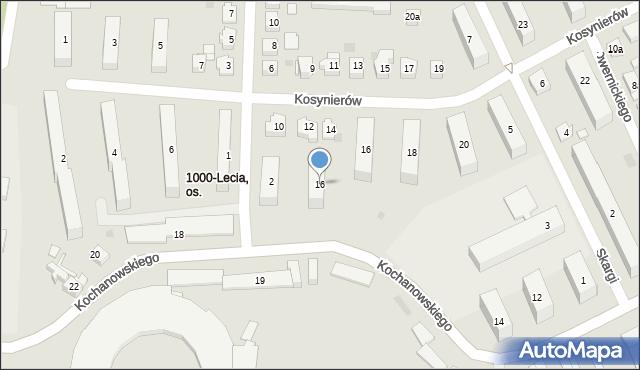 Rzeszów, Kochanowskiego Jana, 16, mapa Rzeszów