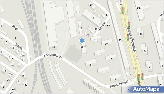Rzeszów, Konopnickiej Marii, 16, mapa Rzeszów
