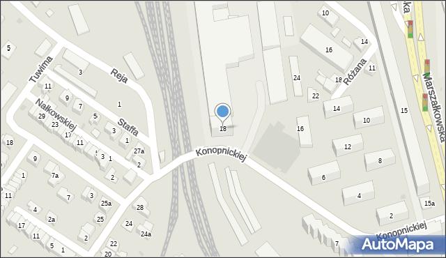 Rzeszów, Konopnickiej Marii, 18, mapa Rzeszów