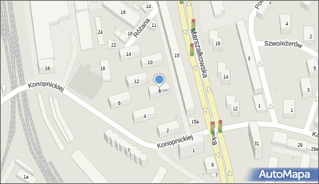 Rzeszów, Konopnickiej Marii, 8, mapa Rzeszów