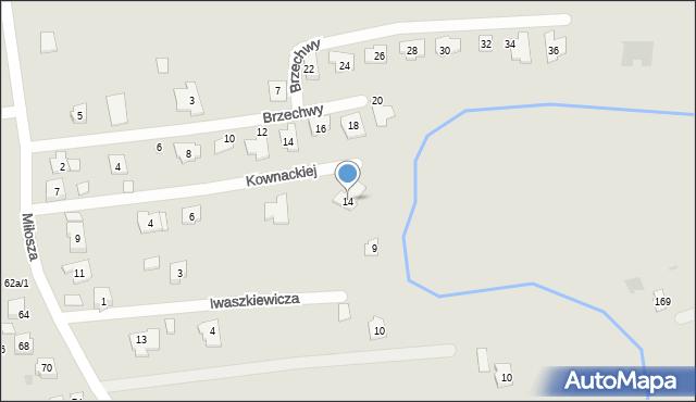 Rzeszów, Kownackiej Marii, 14, mapa Rzeszów