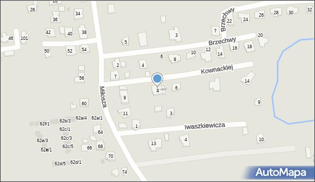 Rzeszów, Kownackiej Marii, 4, mapa Rzeszów