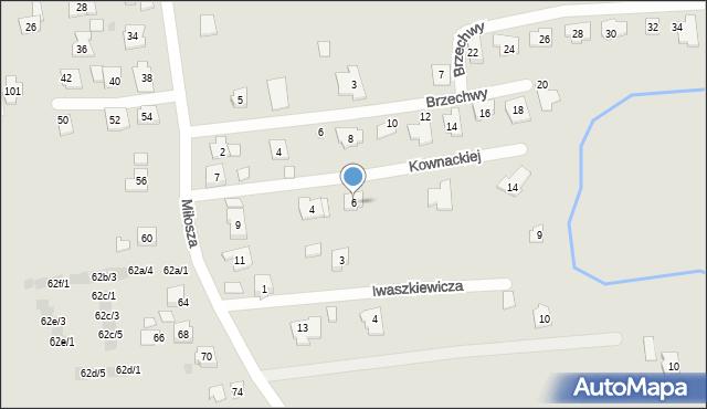 Rzeszów, Kownackiej Marii, 6, mapa Rzeszów