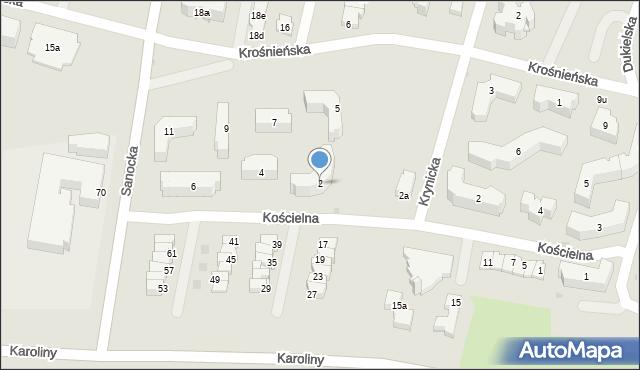 Rzeszów, Kościelna, 2, mapa Rzeszów