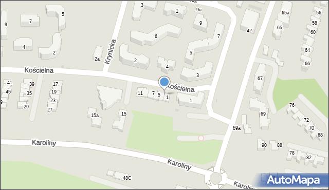 Rzeszów, Kościelna, 3, mapa Rzeszów